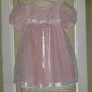 Bonnie Jean pink gingham dress